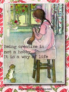 Being Creative.... by Bustle & Sew, via Flickr