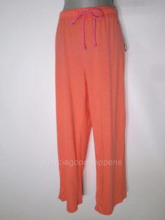 New Nautica Womens Pajama Pants Orange Striped Large #Nautica #LoungePantsSleepShorts #Everyday