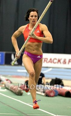 Jenn Suhr - Olympian track and field, gold medal.