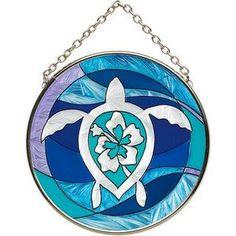 a266f37512d3e Sea Turtle Round Art Glass Suncatcher - SC194