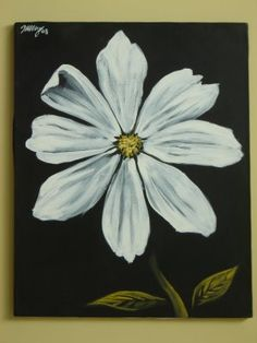 white daisy painting. I need to start painting these again! I used tempera paints before and those fade..time for my acrylic!