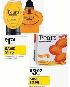 These Pears products #halfprice at #woolworths #onsale until 15/3/16 #mar16 #showergel #handwash #soap #cleanhands #reduced @woolworths_au #savvysaver