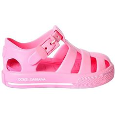 Dolce & Gabbana Kids-girls Rubber Sandals ($110) ❤ liked on Polyvore featuring pink