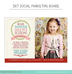 INSTANT DOWNLOAD Christmas Social Marketing Board Template for Photographers - Photography Marketing - AD134