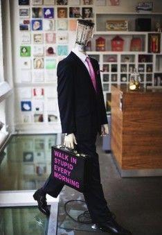 Wieden + Kennedy London office walk in stupid mannequin