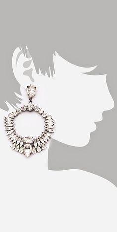 Noir Jewelry  Nightfall Crystal Wreath Earrings