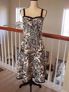 Dressbarn Women's 10 Dress Floral Sleeveless Black / White NWOT #Dressbarn #Work