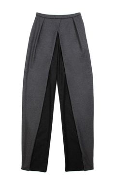 Front Fold Detail Pants by Vika Gazinskaya