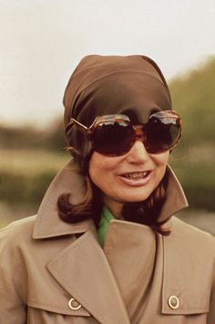 """toryburch: """"I is for In the Shade Above: Jacqueline Kennedy Onassis looking chic in her signature tortoise sunglasses. Photographed by Jacques Dejean/Sygma via Getty Images """""""