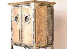 Industrial furniture cabinet Industrial buffet Wine rack