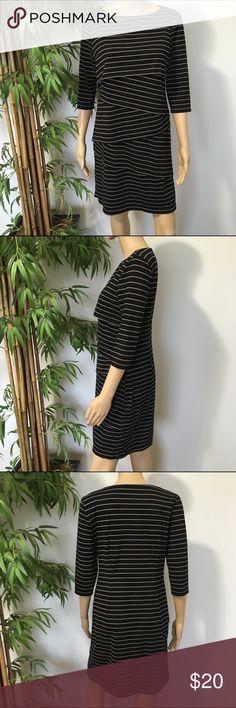 Emma and Michele Dress size M NWT size M Black on tan Midi dress ❌No Trades❌ Emma and Michele Dresses Midi
