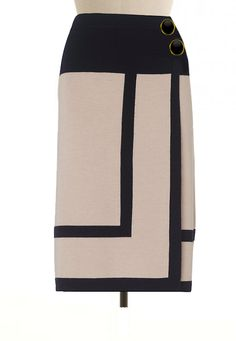 Beige-and-black-border-edge-wrap-skirt