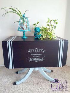 vintage drop leaf table gets some tlc, chalk paint, home decor, painted furniture