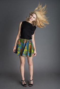 SS 2014:Short Circle Skirt