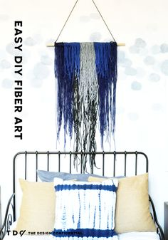 Easy DIY Vintage Inspired Yarn and Fiber Art Wall Hanging | The Design Confidential