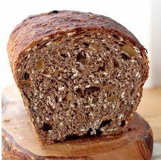 Pão Marrom com Castanhas e Passas - Máquina de Pão