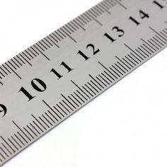 300mm lineal udført i rustfrit stål Dobbeltsidet mm/tommer