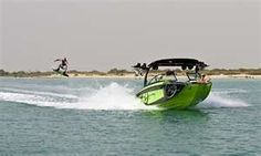 Tige Boat pulls wakeboard event in Abu Dhabi...
