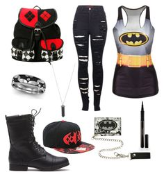 """batman and harley quinn mash"" by mikkibear09 on Polyvore"