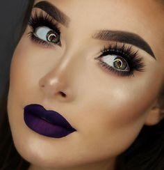 Resultado de imagen para maquillaje boca morada
