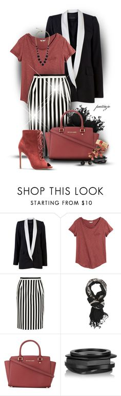 """""""Get in Line"""" by rockreborn ❤ liked on Polyvore featuring Yigal AzrouÃ«l, H&M, Marc Jacobs, MICHAEL Michael Kors, Kenneth Jay Lane and Kate Spade"""