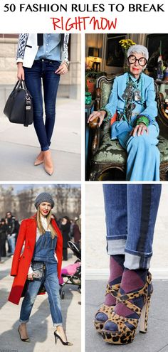50 Fashion Rules to Break Right Now! #fashion #tips #rules #outfits #clothes
