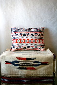 Native American Hand Made Vintage Fabric Pillow