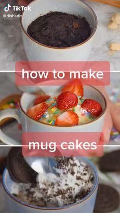 Mug Cookie Recipes, Mug Recipes, Fun Baking Recipes, Cooking Recipes, Starbucks Recipes, Think Food, Easy Snacks, Desert Recipes, Food Cravings