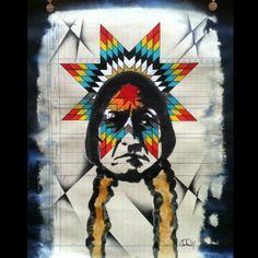 lakotascribbler:  Latest #art commission #cheyennerandall #nofilter stoked on it  (Taken with instagram)