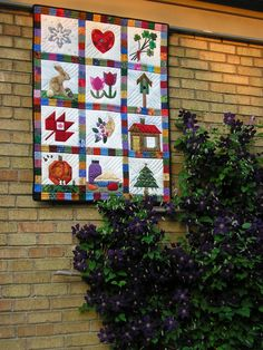 Sampler Quilt My Quilts Pinterest Simple Quilt And