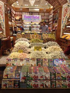 Turkish delights in Spices Bazaar, Istanbul