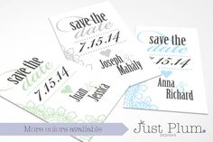Perfectly Paisley Printable Save The Date Cards by JustPlumDesigns, $20.00