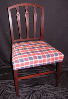 Set Of 6 Antique American Federal Mahogany Dining Chairs Circa 1790