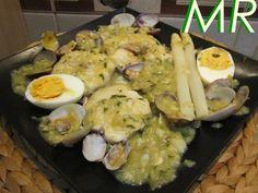 #Merluza a la vasca en salsa verde. Ver #receta d #Navidad: http://www.mis-recetas.org/recetas/show/32221-merluza-a-la-vasca-en-salsa-verde