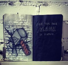 wreck this journal page by sari rakovic CRACK THE SPINE- page #wreckthisjournal