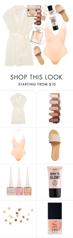 """Onia Nina"" by thestyleartisan ❤ liked on Polyvore featuring Calvin Klein Underwear, ONIA, Hinge, Christian Louboutin, NYX, Umbra, NARS Cosmetics and Stila"