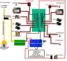 typical diagram for a small rv or cabin solar electric system rh pinterest com 12 Volt Fish House Lights 12 Volt Wiring Diagram To20 Ferguson Tractor