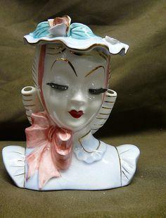 "Vintage Lefton ""Barbara"" Head Vase"