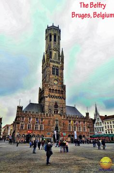 The Belfry in Grote Markt Square in Bruges.