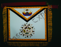 Hand made embroidery work. Masonic Symbols, Aprons, Embroidery, Frame, Handmade, Picture Frame, Needlepoint, Hand Made, Apron Designs