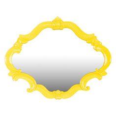 Alsatia Wall Mirror in Yellow