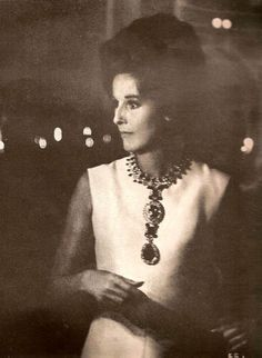 Babe Paley in Simply Elegant Sheath Dress w/ Dramatic Jewelry