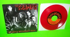 "THE CRAMPS BIG BLACK WITCHCRAFT ROCK 45 7"" RECORD PUNK PSYCHOBILLY RED VINYL '03 #PunkNewWave #TheCramps #PunkRock"