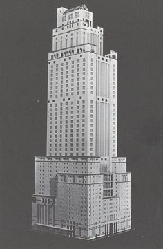 Syracuse University Times Square Student Skyscraper Competition entry, Kevin Havens, 1983