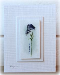 Simple Single Flower Beautiful Handmade Cards, Flower Cards, Watercolour Flowers, Watercolor Cards, Greeting Cards Handmade, Homemade Cards, Color Crayons, Stampin Up Cards, Simple Elegance