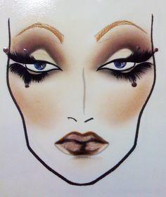 MAC face chart by Charity Daw Diy Makeup Looks, Beauty Makeup, Eye Makeup, Beauty Tips, Mac Face Charts, Hand Makeup, Makeup Illustration, Makeup Face Charts, Draw On Photos