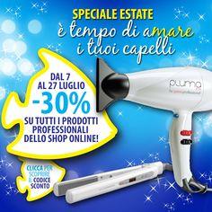 E' online lo speciale #estate di #GamaItalia  Uno sconto del 30% cliccando sul nostro e-shop http://www.gamaprofessional.it/Ottieni_lo_sconto_del_30_percento Scegli la #beautytechnology di #Gamaprofessional È tempo di aMare i tuoi capelli. #saldi #piastre #phon #regolabarba #occasioni