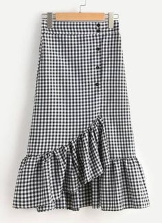 SheIn offers Gingham Layered Frill Hem Skirt & more to fit your fashionable needs. SheIn offers Gingham Layered Frill Hem Skirt & more to fit your fashionable needs. Boho Outfits, Skirt Outfits, Casual Outfits, Cute Outfits, Fashion Outfits, Women's Fashion, Frill Skirts, Ruffle Skirt, Dress Skirt