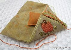Pumpkin etui needlebook part3 by Hearty craft, via Flickr