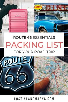 What to take on a Route 66 road trip. This Rt 66 Packing list will help you make sure this bucket list trip has everything you need in advance! Route 66 Road Trip, Road Trip Packing, Us Road Trip, Family Road Trips, Road Trip Hacks, Packing Tips, Family Travel, Free Travel, Travel List